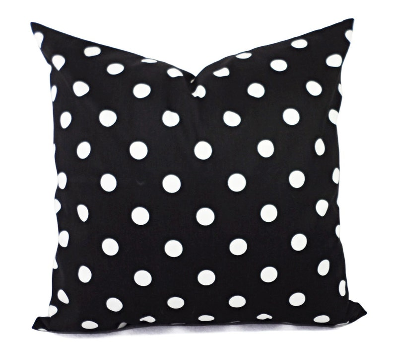 Two Black White Decorative Pillow Covers Two Black And White Etsy