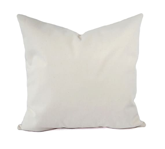 Two Solid Cream Pillow Covers Beige