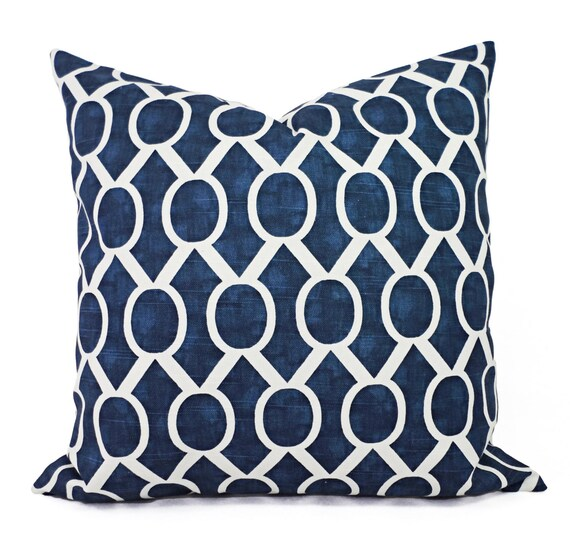 Two Navy Blue Decorative Pillows Two Navy Throw Pillow Etsy Cool Navy And White Decorative Pillows