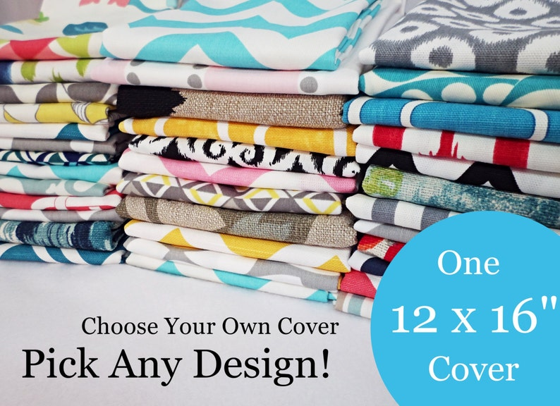 12 x 16 Lumbar Pillow Cover  One Pillow Cover  Choose Your image 0