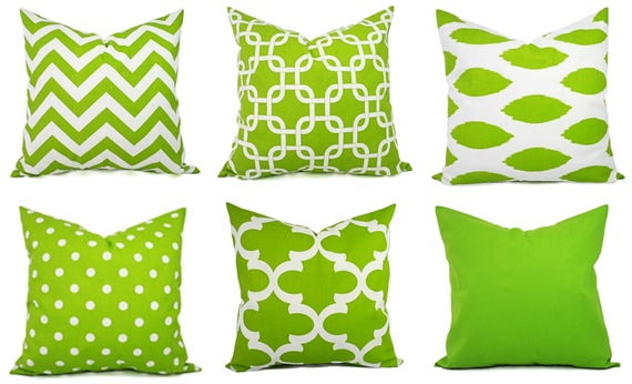 Miraculous Green Couch Pillows Green Pillow Cover Green And White Chevron Pillows Green Decorative Throw Pillow Accent Pillow Ibusinesslaw Wood Chair Design Ideas Ibusinesslaworg