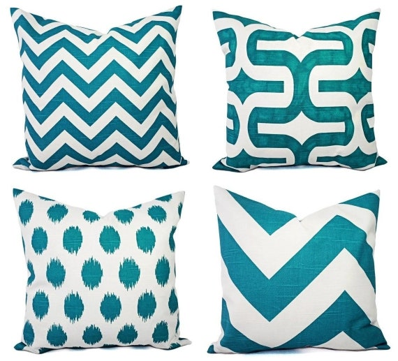 Incredible Teal Couch Pillow Covers Turquoise Pillow Covers Turquoise Pillow Sham Decorative Throw Pillow Cushion Cover Accent Pillow Andrewgaddart Wooden Chair Designs For Living Room Andrewgaddartcom