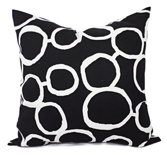 Groovy Black White Couch Pillow Covers Two Black And White Throw Pillows Sofa Pillow Cover Accent Pillow Black Pillow Cover Andrewgaddart Wooden Chair Designs For Living Room Andrewgaddartcom