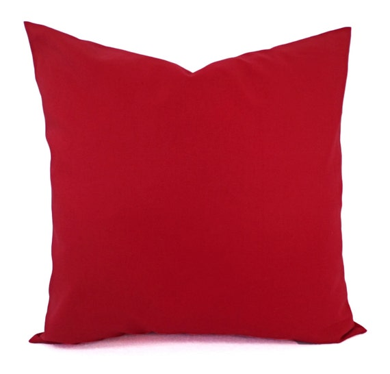 Dark Red Throw Pillows.Solid Red Pillow Cover Dark Red Pillow Cover Linen Pillow Cover Solid Red Throw Pillow Custom Decorative Pillow 16 X 16 Pillow 18