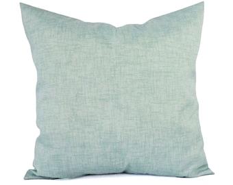 Two Outdoor Pillows - Solid Blue Pillows - Patio Pillows - Outdoor Pillow Cover - Blue Green Pillows - Custom Pillows 18 x 18 pillow 20 x 20