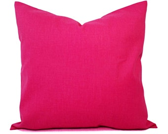 Two Solid Pink Pillow Covers - Hot Pink Couch Pillow Covers - Pillow Covers - Hot Pink Toss Pillow - Decorative Pillow - Solid Pink Pillow