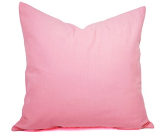Two Baby Pink Pillow Covers - Solid Pink Pillows - Pink Throw Pillows - Nursery Pillows - Nursery Decor - Baby Pink Pillows - Soft Pink