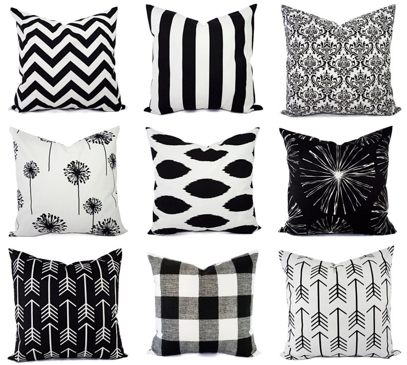 4203cfa0030 Black Decorative Pillow Cover Black Pillow Cover Black and