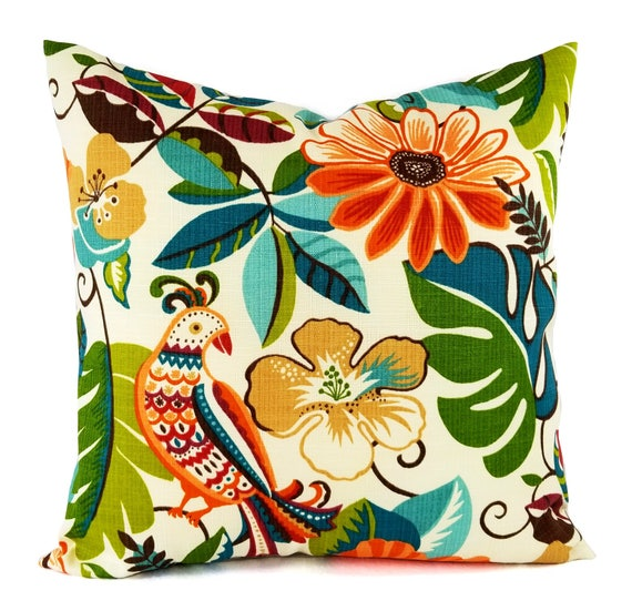 Two Outdoor Pillow Covers Yellow Throw Pillow Brown Pillow Etsy