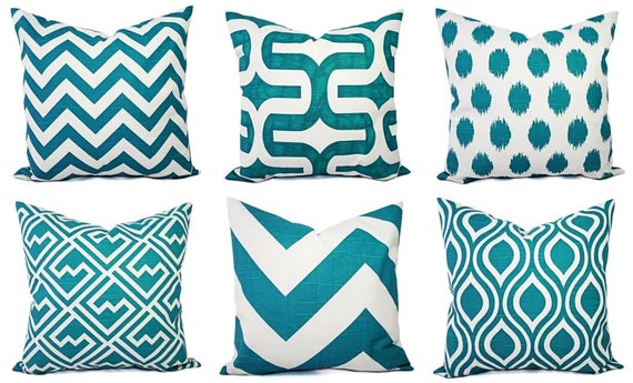 Teal Throw Pillow Cover Decorative Pillow Cover Turquoise Etsy Amazing Cheap Turquoise Decorative Pillows