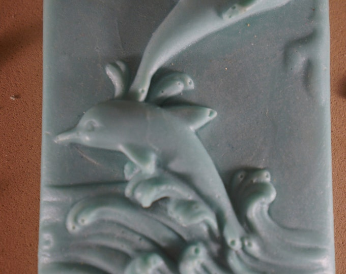 Goat mIlk frolicking dolphin  soap - beautiful soap - great gift - guest bedroom dolphin beach lover beautiful detail