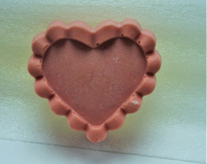 Pretty Heart Shaped Goat Milk & Shea Butter Soap in red satin bag-moisturize dry skin - the gift of pretty skin