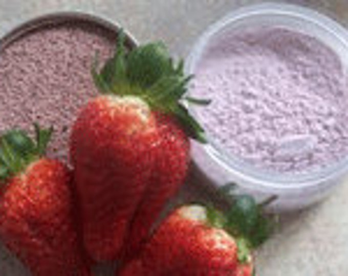 Strawberries & Cream Facial - healthy skin- rejuvenate- Moisturize - goat milk  8 or 12 oz jar