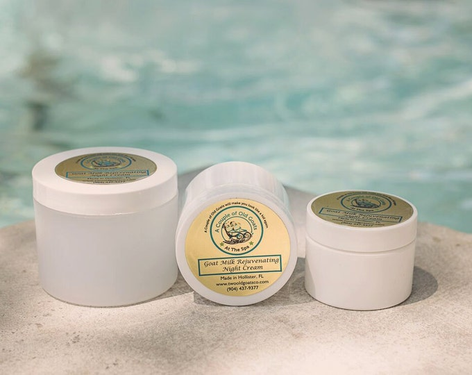Natural Milk Rejuvenating Night Cream - 1, 2, 4, 8 or 12 oz - keep your skin soft, smooth, silky