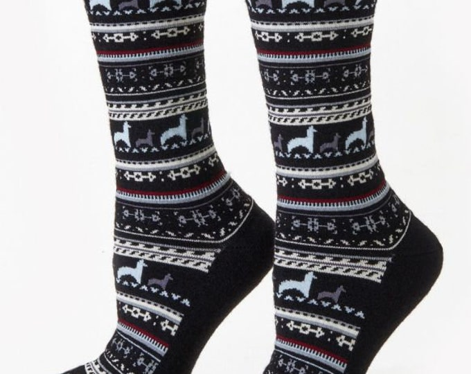 Alpaca socks infused with Aloe - Pretty alpaca socks made from soft soothing alpaca fiber - 2 colors to choose from