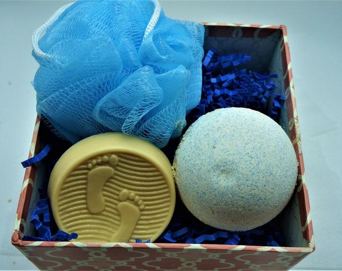 Ocean Lover Gift Set-Goat Milk & Epsom Salts Bath fizzy Goat Milk Shea Butter Soap-Driftwood Sea Salt-Gift under 15-coworker, mother, BFF