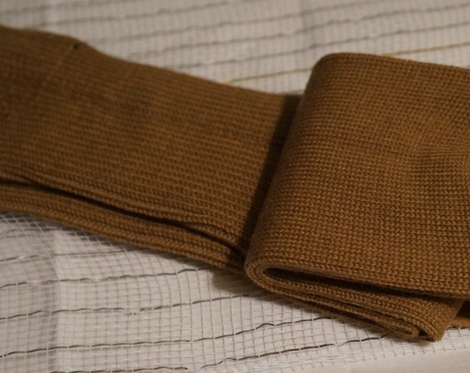 Alpaca socks infused with Aloe - Men -Camel - Medium  ribbed stitched - warm dry insulation - fine lustrous alpaca