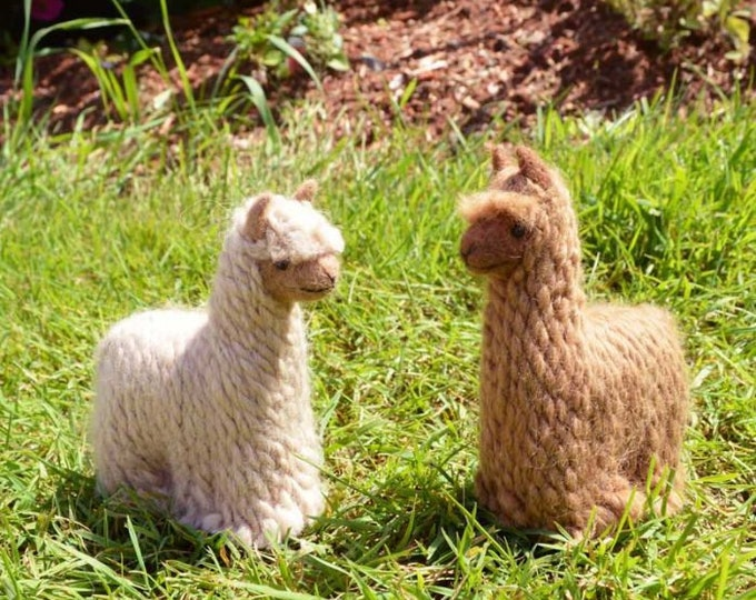 "These hand-felted 100% Baby Alpaca figurines are sure to bring a smile to your face! Approximately 5"" height."