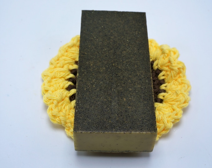 Your choice of one of our many Goat Milk Specialty Facial Soaps with handmade crocheted facial scrub - perfect gift or treat yourself