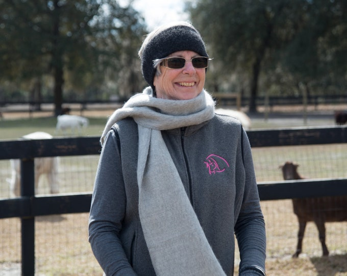 100% Alpaca woven scarf - resistant to stain, precipitation does not easily penetrate - stylish and warm