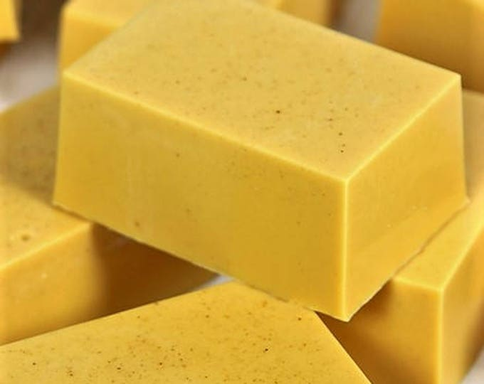 Goat Milk Turmeric Soap with Orange and Ginger essential oil - moisturize, -  4 oz - gentle exfoliant