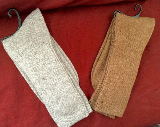 Therapeutic Alpaca socks infused with Aloe & Jojoba Oil - Gray - S, M or L - ribbed stitched - warm dry insulation - fine lustrous alpaca