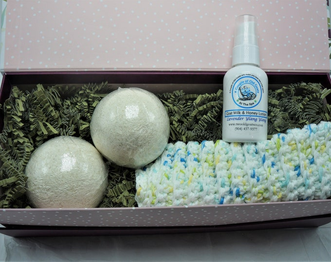 Our Night time Restful Sleep Gift Box- filled with Goat Milk Products that will aid a restful night time sleep,