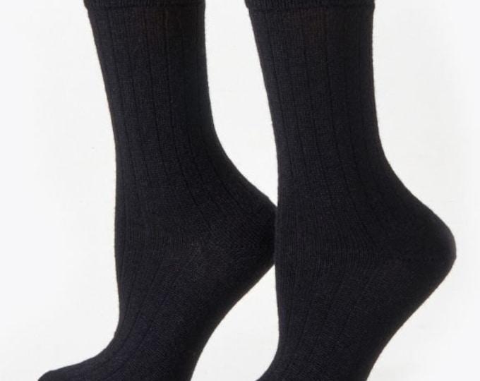 Alpaca dress socks infused with Aloe Oil - ribbed stitched - warm dry insulation - fine lustrous alpaca