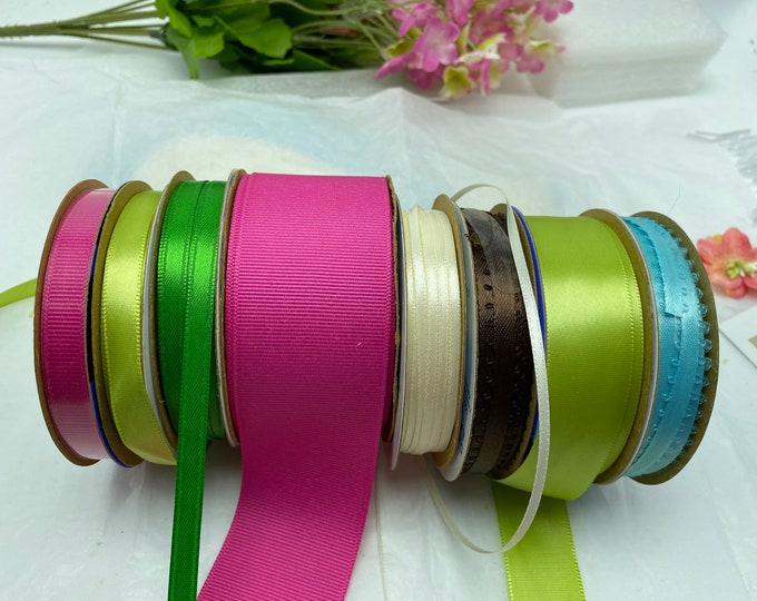 Assorted ribbon sizes and colors- great for crafts, hair ribbons etc