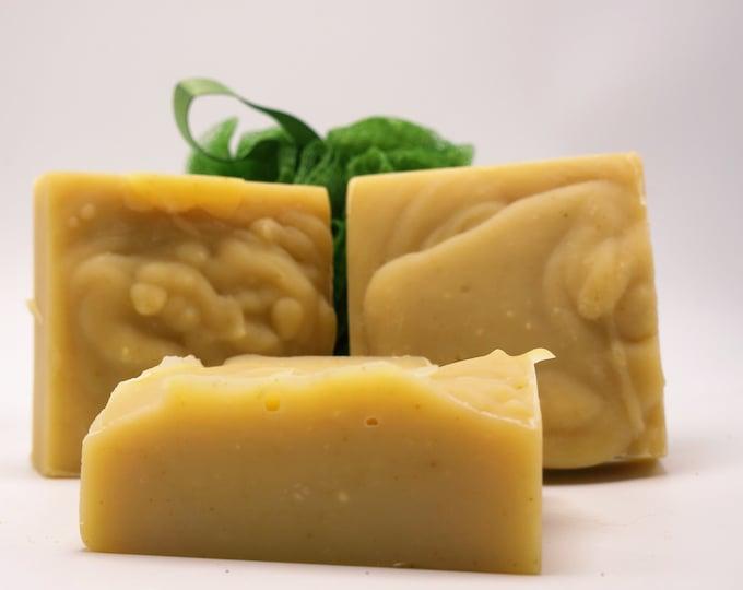 Fresh from the farm Goat Milk Soap- Natural soap-Coconut Mango- Bars weigh minimum  oz- luxurious Babassu Oil