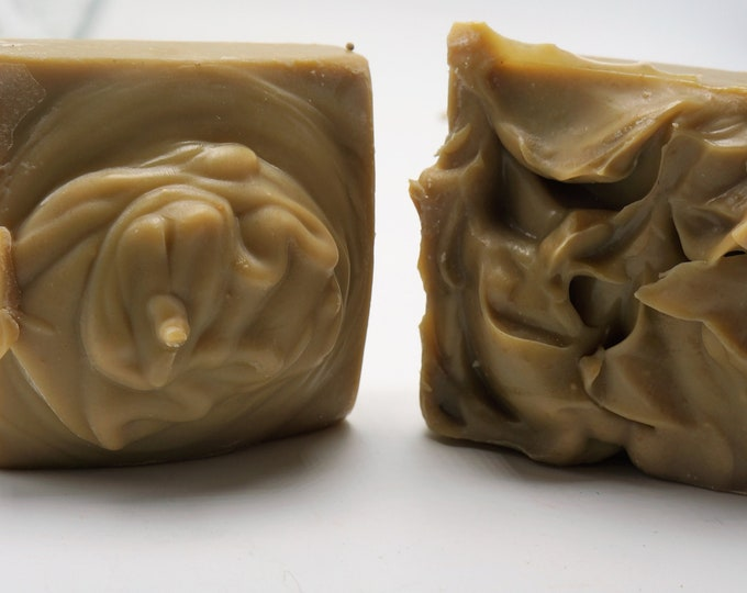 Fresh from the farm Goat Milk Soap-Natural soap NO Palm Oil-Strawberry Banana Coconut-weigh 6.5 oz or more-luxurious Babassu Oil
