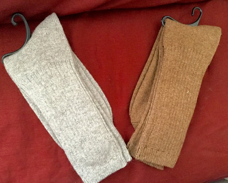 Therapeutic Alpaca socks infused with Aloe /& Jojoba Oil-One pair of Tobacco Size Small-anti inflammatory natural therapeutic copper