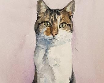 Cat Portrait, Cat Painting, Cats, Cat Art, Cat Wall Art, Pet Portraits