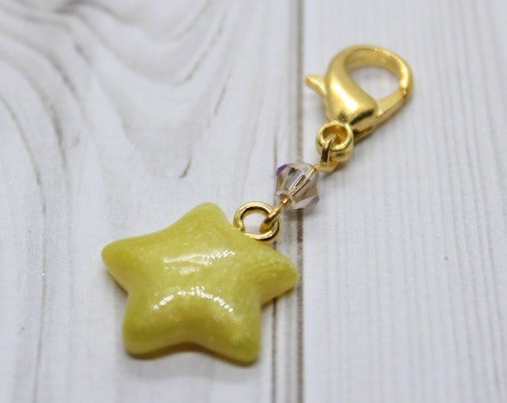 Shooting Star Dangle Charm - Stitch Marker - Progress Keeper - Planner Charm - Ready to ship