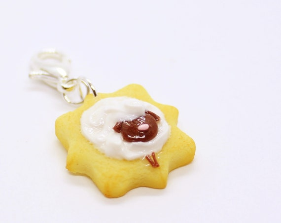 Sheep Sugar Cookie Charm - Stitch Marker - Progress Keeper - Bracelet Charm - Ready to ship