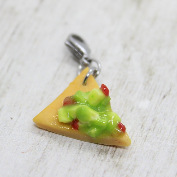 Chip & Guac Charm - Polymer Clay Stitch Marker - Progress Keeper - Bracelet Charm - Ready to ship