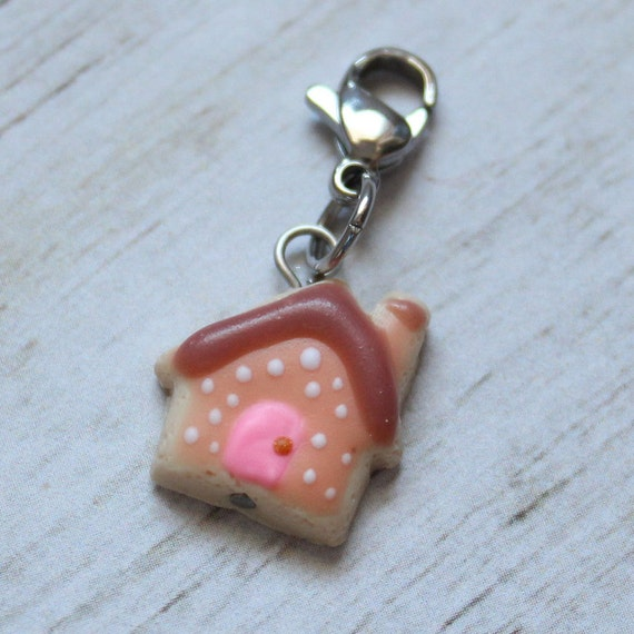 Cottage Sugar Cookie Charm, Food Jewelry, Progress Keeper, Stitch Marker, Thanksgiving Charm