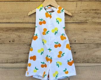 Sunshine State of Mind - Girls Romper - Oranges - Summer Outfit - Kids Clothes - Toddler Girls Romper