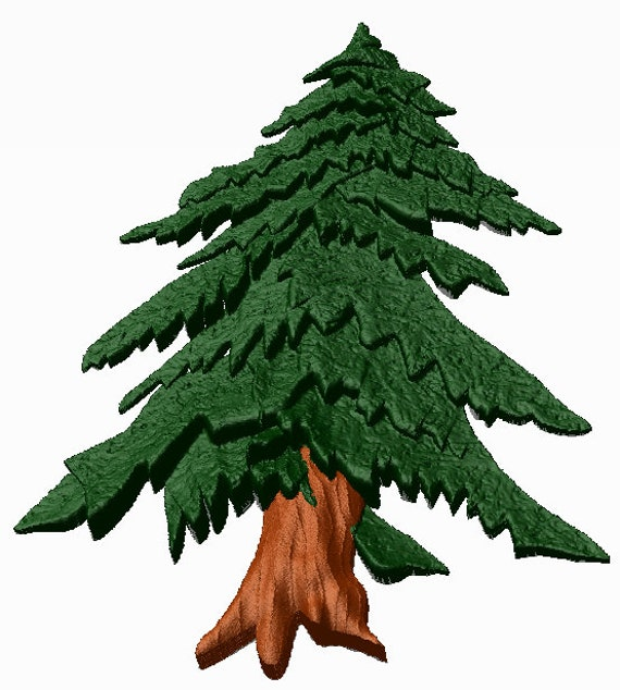 Hemlock tree 3d solid model Carving, 3d in OBJ  STL and 3DS formats Carve  with cnc router or cnc mill immediate download in digital zip file