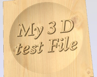 Test file check out your machine for 3D capability with this deep relief test file CNC, G-code, CNC art, CNC Router or Mill
