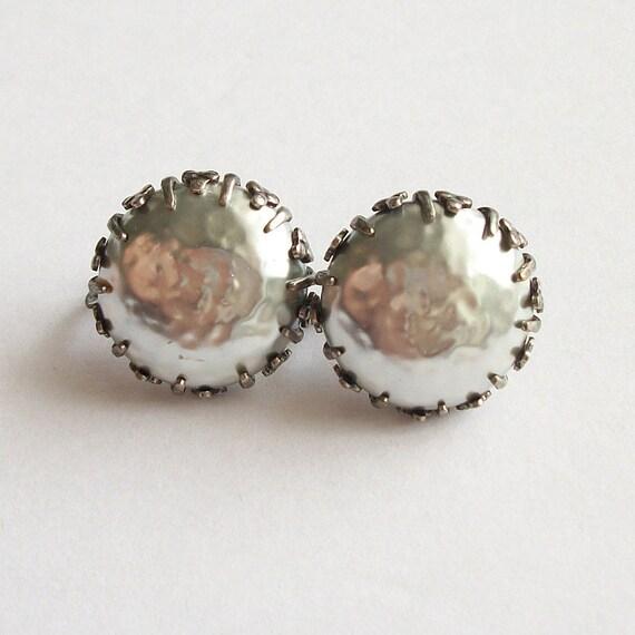 Vintage Miriam Haskell Earrings Faux Pearl Earring