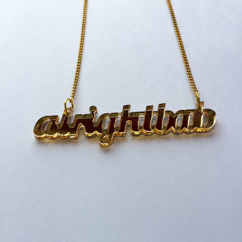 5c0766990c0 Alright Bab laser cut necklace Brummy Birmingham