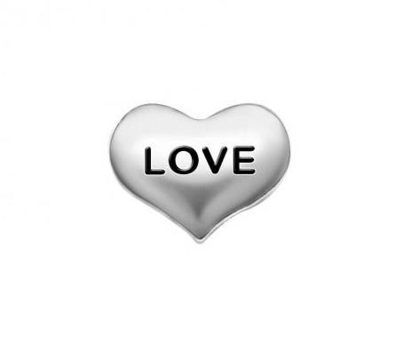 Hug /& Kiss Pink Heart Floating Charm Living Locket Fits Origami Owl Charms