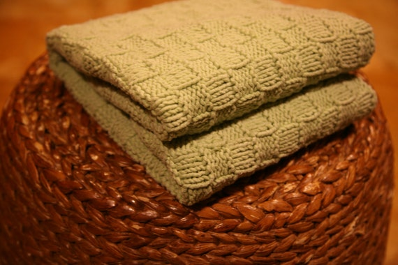 KNITTING PATTERN Basket Weave Super Easy And Quick Baby Etsy Delectable Super Easy Knit Baby Blanket Pattern