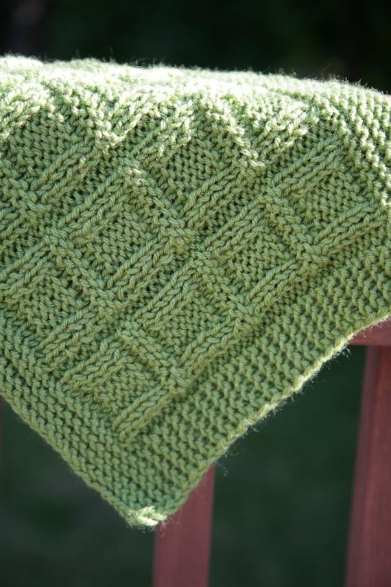 Green Mama Quadrate Babydecke / Afghan nicht glatt | Etsy