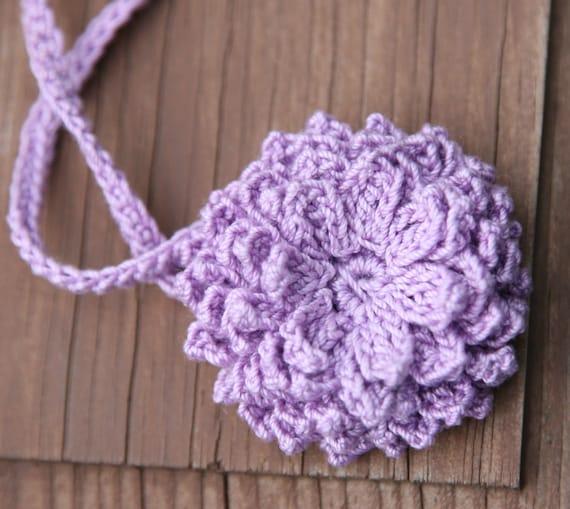 Pattern Crochet Unique Flower And Headband Dahlia Free Etsy