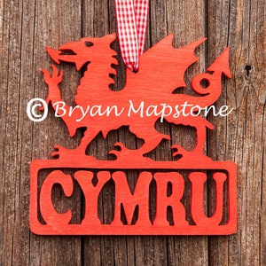 Strong Welsh dragon key hook with fixing holes