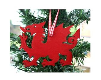 Welsh Dragon Welsh Christmas decoration