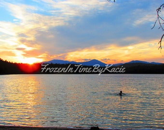 Watery sunset - Digital download photo