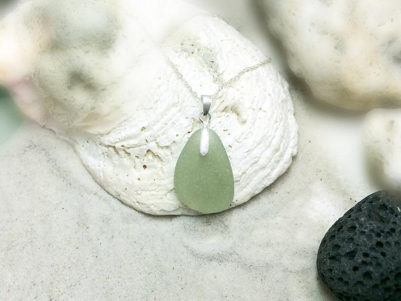 Seafoam green Sea Glass Sea find jewellery Sea Glass Necklace English Sea Glass Beach Glass Necklace Frosty Sea Glass Gift for her